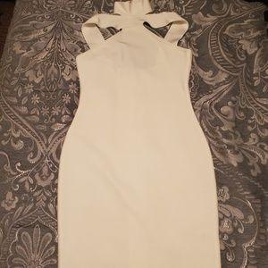 White bandage style dress